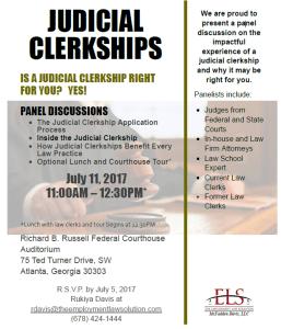 ELS Judicial Clerkship