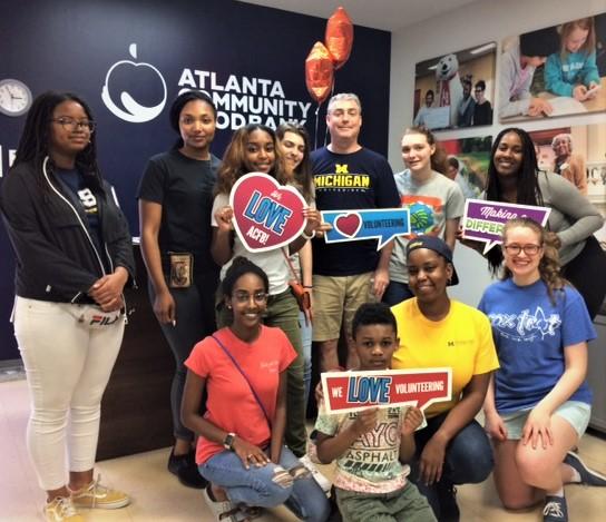 University of Michigan Law School Alumni & Friends Service Day on May 4 at the Atlanta at Atlanta Community Food Bank
