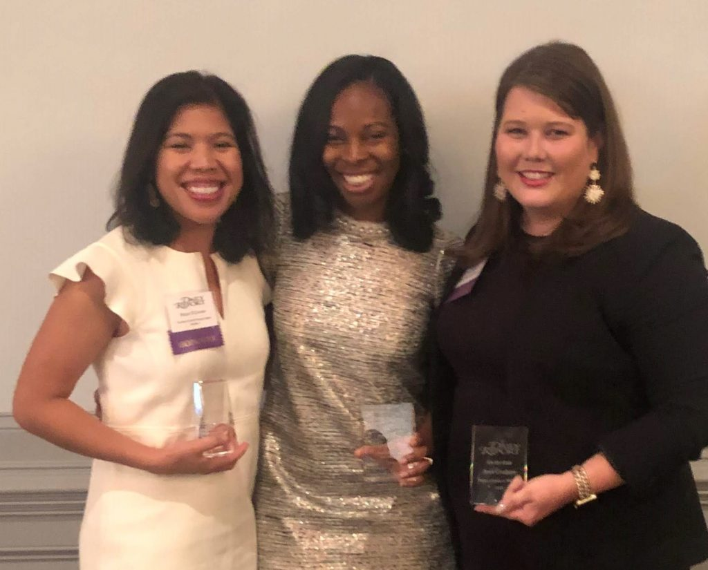 Rizza O'Connor, Raquel Crump, Jenn Coalson at Georgia Legal Awards June 20, 2019